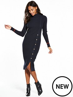 vila-soldana-long-sleeve-knit-dress-navy