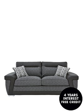 geo-fabric-and-faux-leather-3-seater-sofa
