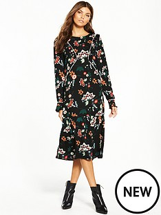 vila-esto-long-sleeve-dress
