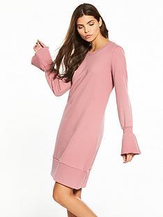 vila-mista-long-sleeve-sweat-dress