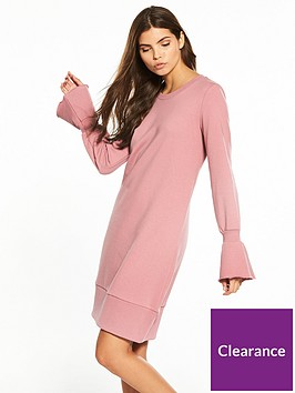vila-mista-long-sleeve-sweat-dress