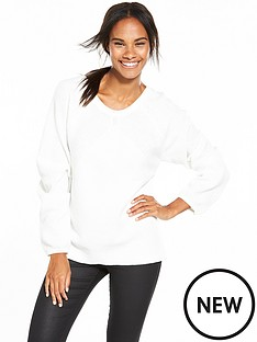 vila-vila-specific-long-sleeve-v-neck-knit-top
