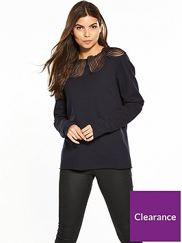 vila-mista-long-sleeve-neck-lace-top