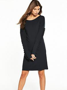 vila-hasa-long-sleeve-jersey-dress-black