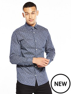 selected-homme-printed-long-sleeve-shirt
