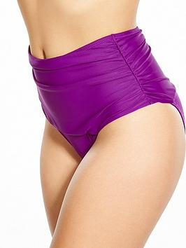 Pour Moi Instaglam High Waist Bikini Brief  Purple