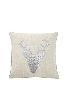 cascade-home-sequin-stag-cushion