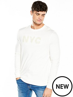 river-island-towelling-applique-sweat-top