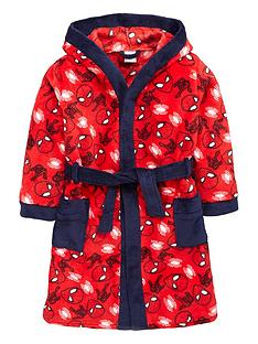 spiderman-boys-fleece-robe