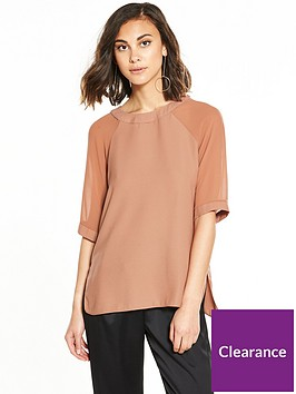 river-island-river-island-chiffon-sleeve-woven-t--shirt