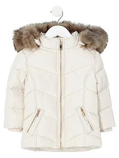river-island-mini-girls-cream-faux-fur-trim-padded-coat