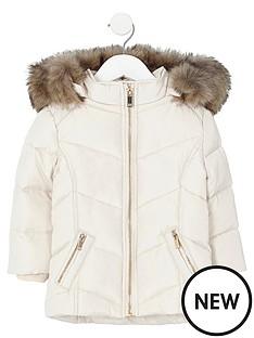 river-island-mini-girls-cream-fur-trim-padded-coat