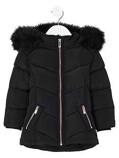 river-island-mini-girls-black-faux-fur-trim-padded-coat