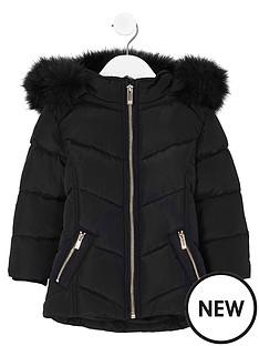 river-island-mini-girls-black-fur-trim-padded-coat