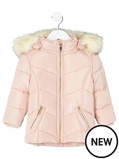 river-island-mini-girls-pink-fur-trim-padded-coat