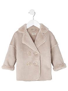 river-island-mini-girls-pink-faux-shearling-coat