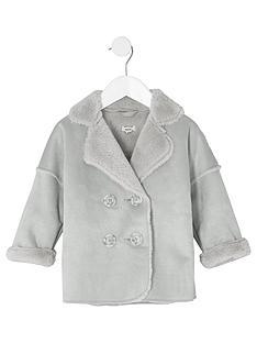 river-island-mini-girls-grey-faux-shearling-coat
