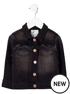 river-island-mini-girls-black-frayed-denim-jacket