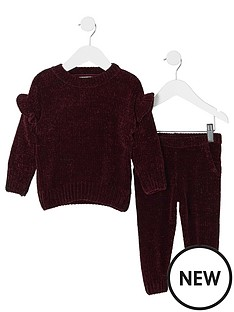 river-island-mini-girls-burgundy-chenille-jumper-outfit