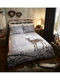 catherine-lansfield-woodland-deer-christmas-duvet-cover-set