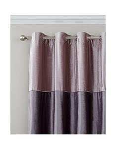 catherine-lansfield-velvet-bands-lined-pencil-pleat-curtains