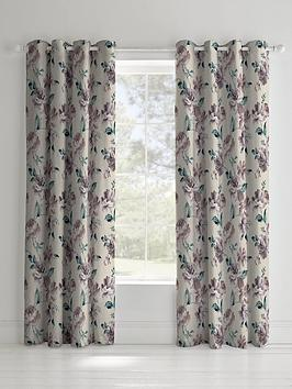 Catherine Lansfield Catherine Lansfield Painted Floral Lined Eyelet  ... Picture