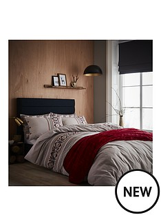 catherine-lansfield-brushed-printed-knit-duvet-cover-set