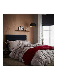 catherine-lansfield-printed-knit-100-brushed-cotton-duvet-cover-set