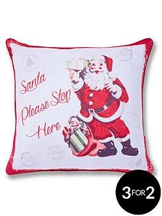catherine-lansfield-retro-santa-christmas-cushion