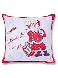catherine-lansfield-retro-santa-cushion