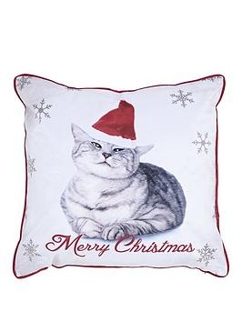 catherine-lansfield-christmas-cat-cushion