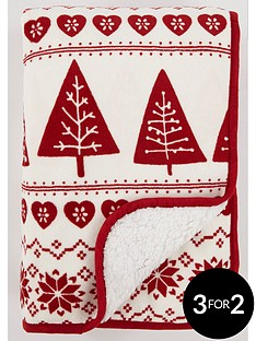 catherine-lansfield-nordic-tree-christmas-throw
