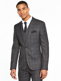 v-by-very-slim-check-suit-jacket
