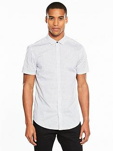 v-by-very-short-sleeve-mini-print-stretch-shirt