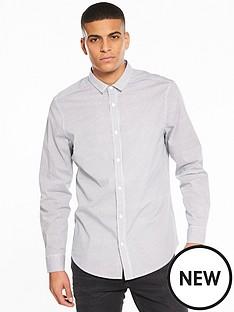 v-by-very-long-sleeve-grid-printed-stretch-shirt