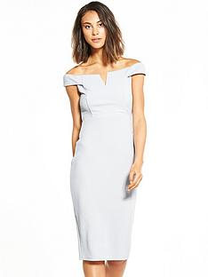 ax-paris-bardot-silver-midi-dress