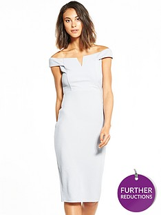 ax-paris-bardot-silver-midi-dress