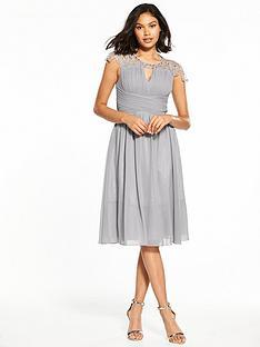 little-mistress-cap-sleeve-midi-dress-grey