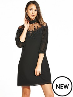 little-mistress-lace-top-shift-dress