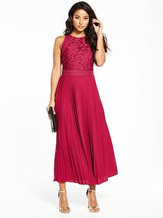little-mistress-pleated-hem-midi-dress