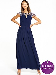 little-mistress-cap-sleeve-embellished-maxi-dress-navy