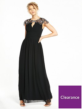 little-mistress-petite-cap-sleeve-embellished-maxi