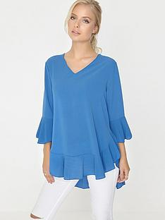 girls-on-film-flare-sleeve-and-ruffle-hem-oversized-top