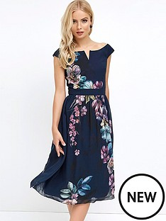 little-mistress-bardot-print-midi-dress