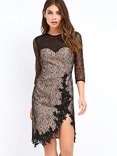 little-mistress-lace-wrap-mini-dress-black