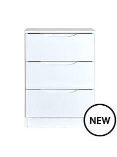 monaco-high-gloss-ready-assembled-3-drawer-bedside