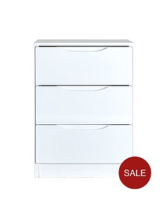 monaco-high-gloss-ready-assembled-3-drawer-bedside