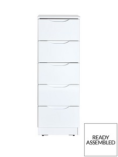 monaco-high-gloss-ready-assembled-5-drawer-tallboy