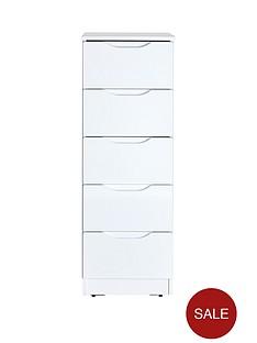 monaco-high-gloss-ready-assembled-5-drawer-tallboy