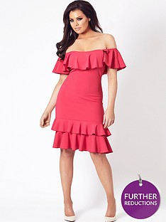 jessica-wright-frankee-bardot-frill-hem-dress-pink